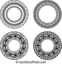 kruh, ozdobený
