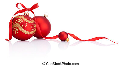 kule, osamocený, poklona, výzdoba, lem, grafické pozadí, běloba vánoce, červeň