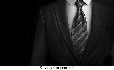 Kvádro s šedou kravatou