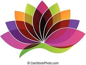 květ, emblém, lotus