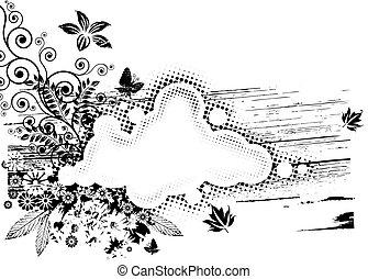 květena, grunge, komponování