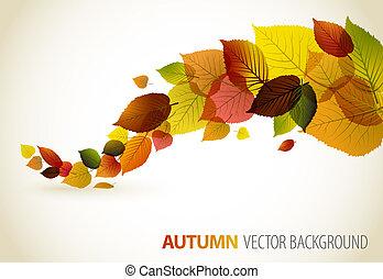 květinový, abstraktní, grafické pozadí, podzim