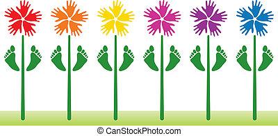 květinový, abstraktní, vektor, grafické pozadí