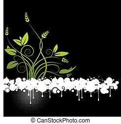 květinový, abstraktní, vektor