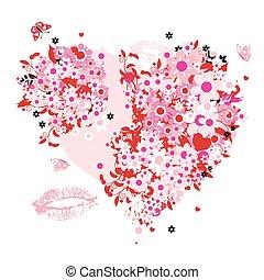 květinový, heart tvořit