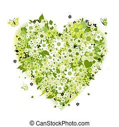 květinový, heart tvořit, nezkušený, léto