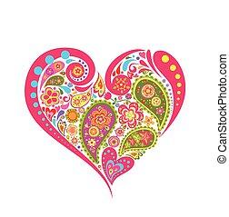 květinový, heart tvořit, paisley