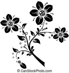 květinový nádech, design, vektor