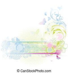 květinový navrhovat, grafické pozadí
