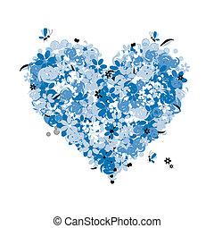 květinový, nitro, láska, forma