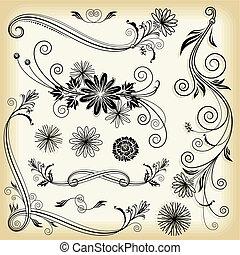 květinový, ozdobný nádech
