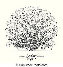 květinový, pramen, základy