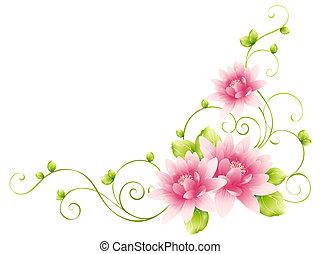 Květiny a vines