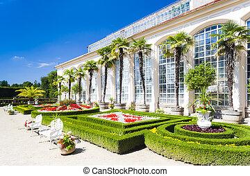 květovat zahradní, čech, palác, republika, kromeriz
