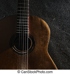 kytara, živost, klidný