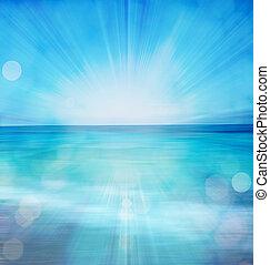 léto, bokeh, moře, grafické pozadí