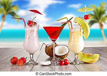 léto, napití