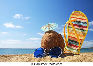 Léto plážová scéna