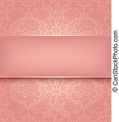 Lace Templát, ornamentní růžová květina