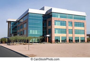large building, moderní, úřad