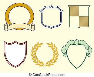 laurels, štíti, logos