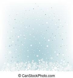 Lehce modré sněžné sněžné pozadí