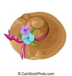 lem, kopie, ilustrace, hněď, klobouk