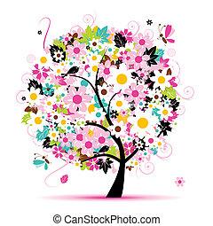 Letní květinový strom pro váš návrh