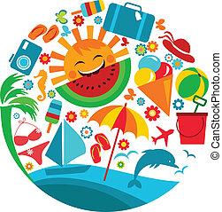 Letní prázdniny, letní ikony