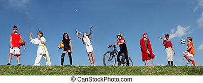 Letní sportovní děti