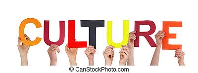Lidé drží kulturu
