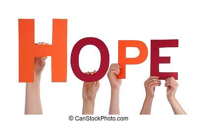 Lidé drží naději