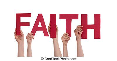 Lidé drží víru