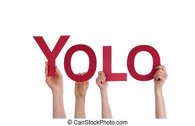 Lidé držící Yolo