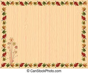 list, karta, hraničit, pozdrav, podzim