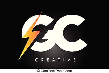 litera, šroub, elektrický, design, emblém, bolt., osvětlení, gc, hrom