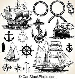 lodní, ikona, dát