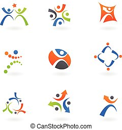 logos, 2, lidský, ikona