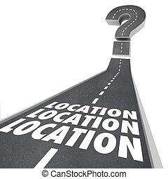 Lokační lokace, umístění navigace