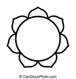 lotus, buddhista, květ