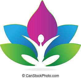 lotus, emblém, rozjímání, jóga