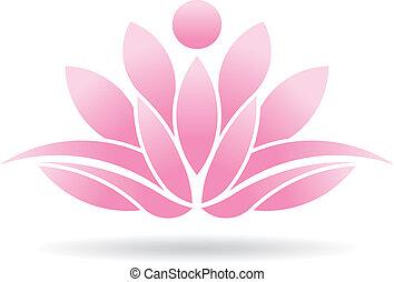 lotus, osoba, emblém