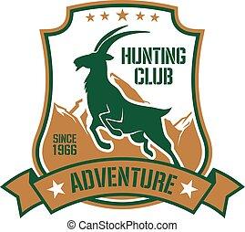Lovecký odznak pro sportovní klub s kozou