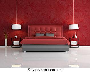 Luxusní červená ložnice