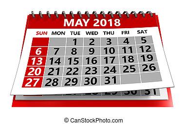 máj, 2018, kalendář