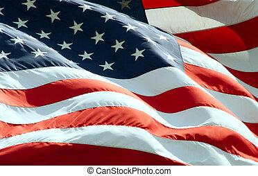 Mávající americká vlajka