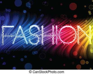 móda, barvitý, abstraktní, temný grafické pozadí, vlání