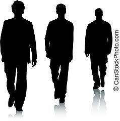 móda, silueta, muži
