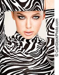 móda, zebra