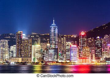 město, hongkong